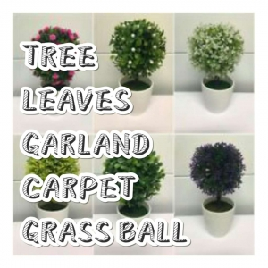 Trees, Leaves, Garland, Carpet, Grass ball