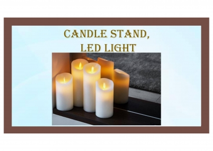 Candle Stand, LED Light